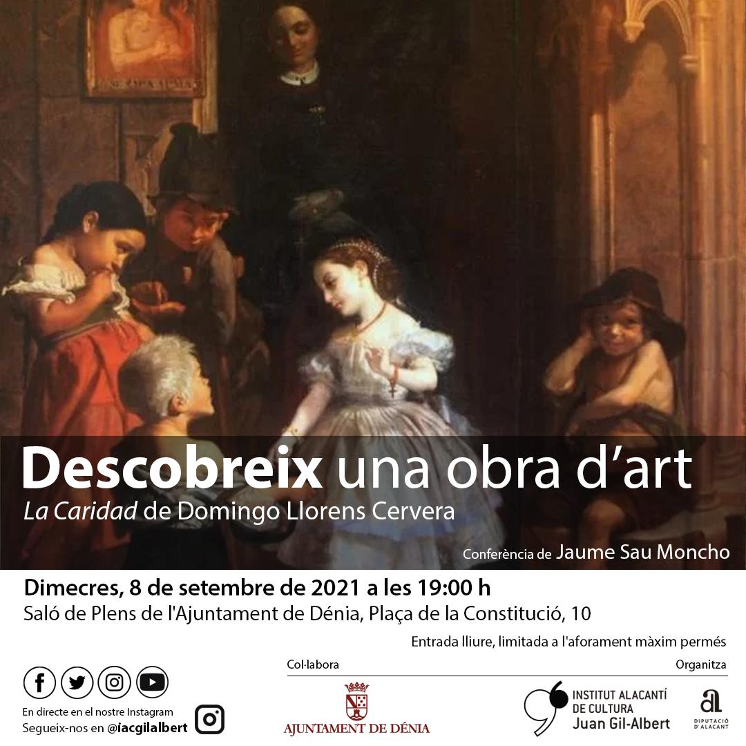 El Instituto Gil-Albert homenajea al pintor dianense Domingo Llorens en el ciclo 'Descubre una Obra de Arte'