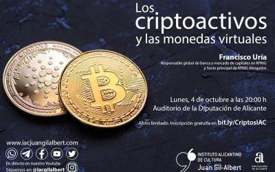 El Instituto Juan Gil-Albert organiza una conferencia sobre los criptoactivos y las monedas virtuales
