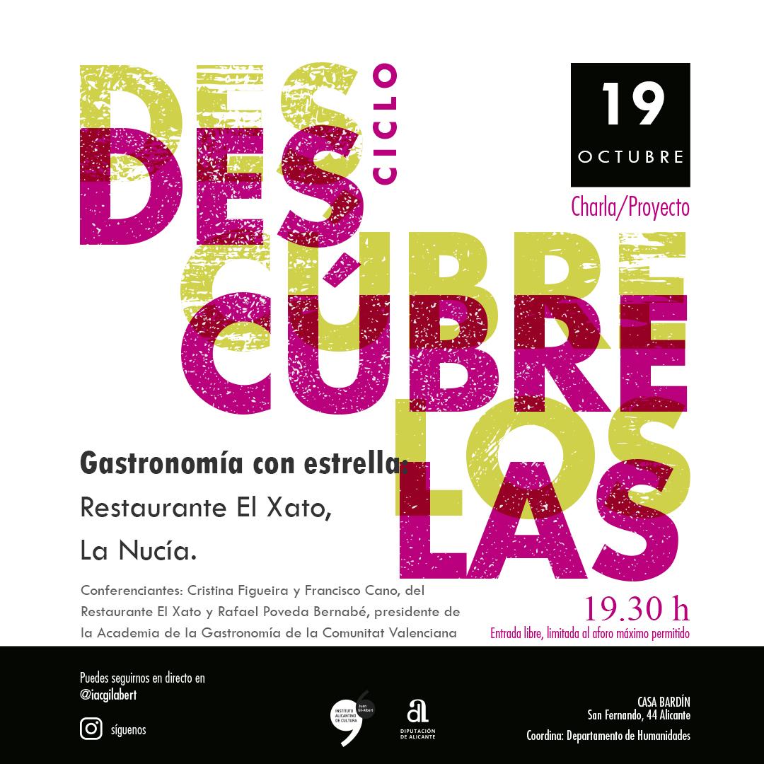 """El Instituto Gil-Albert organiza una nueva sesión de """"Descúbrelos & Descúbrelas"""" sobre el restaurante El Xato de La Nucia"""